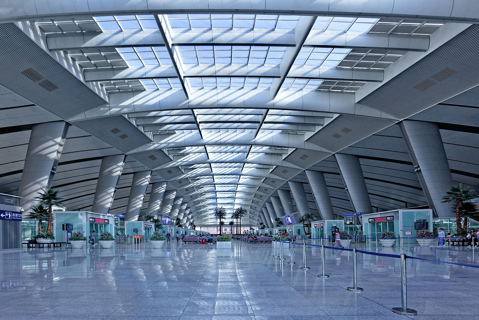 Interior architectural photography of the Beijing South Railway Station in Beijing, China. Paul Dingman is an architectural photographer based in China and working throughout Asia and the Middle East. He is a specialist in the photography of large scale projects, tall buildings, hotels and resorts, interiors, transportation, airports, mixed-use, retail malls, and luxury real estate.