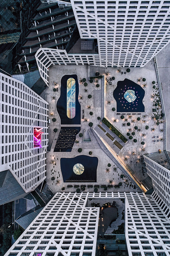 Aerial drone architectural photography of various buildings and projects in China and Asia by Paul Dingman
