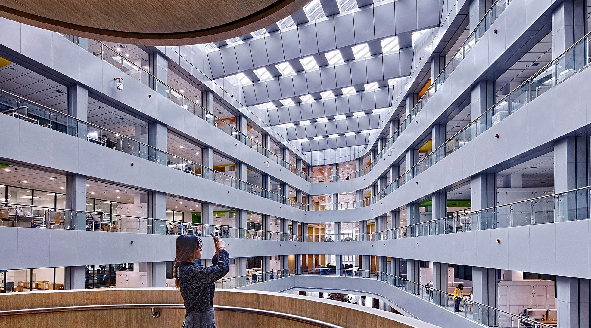 Architectural photography of universities and research centers